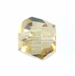 Swarovski 5603  Graphic Cube 8mm Crystal Golden Shadow Color Beads (6pk)