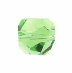 Swarovski 5603  Graphic Cube 8mm Peridot Color Beads (6pk)