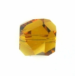 Swarovski 5603  Graphic Cube 8mm Topaz Color Beads (6pk)
