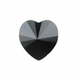 Swarovski 5742 Heart Beads 8mm Jet