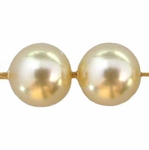 Swarovski 5810 8mm Round Crystal Pearl  Light Gold Pearl Beads (50)