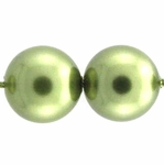 Swarovski 5810 8mm Round Crystal Pearl  Light Green Beads (50) *sold out *