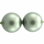 Swarovski 5810 8mm Round Crystal Pearl  Powdered Green (50)
