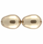 Swarovski 5821 11/8 Bronze Crystal  Pearl Drop Beads (10)