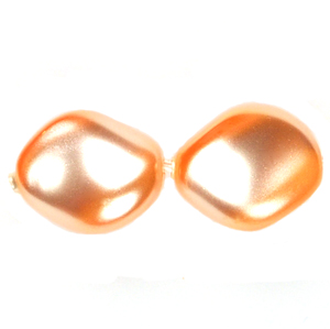 Swarovski 5826 Peach Twist Crystal Pearl  Beads (10)