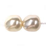 Swarovski 5840 8mm Baroque Crystal Pearl Beads - Creamrose (10) discontinued