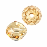 Swarovski 5900 Large Hole Rounds 14mm Crystal Golden Shadow
