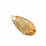 Swarovski 6010 Crystal Drop Briolette Pendant Light Colorado Topaz 11x5.5mm