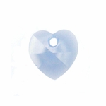 Swarovski 6202 10mm Crystal  Heart Pendant Air Blue Opal