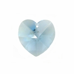 Swarovski 6202 10mm Crystal Heart Pendant  Aquamarine