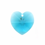 Swarovski 6202 10mm Crystal Heart Pendant Blue Zircon