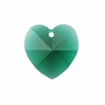 Swarovski 6202 10mm Crystal Heart Pendant Emerald