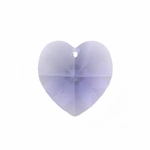 Swarovski 6202 10mm Crystal Heart Pendant Tanzanite