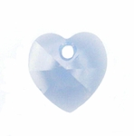 Swarovski 6202 14mm Crystal Heart Pendant  Air Blue Opal
