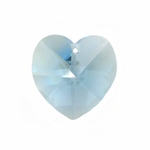 Swarovski 6202 14mm Crystal Heart Pendant  Aquamarine