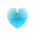 Swarovski 6202 14mm Crystal Heart Pendant Blue Zircon