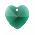 Swarovski 6202 14mm Crystal Heart Pendant Emerald