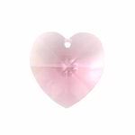 Swarovski 6202 14mm Crystal Heart Pendant Light Rose
