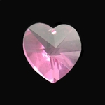 Swarovski 6202 14mm Crystal Heart Pendant  Rose
