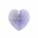 Swarovski 6202 14mm Crystal Heart Pendant Tanzanite