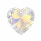 Swarovski 6202 18mm Crystal Heart Pendant Crystal AB, 6228, closeout