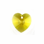 Swarovski 6228 Heart Pendant 10.3x10mm Sunflower
