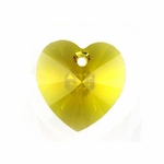 Swarovski 6228 Heart Pendant 14.4x14mm Sunflower