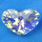 Swarovski 6260 Crazy 4 U Heart 17mm Crystal AB
