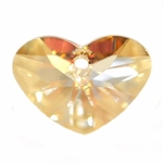 Swarovski 6260 Crazy 4 U Heart 17mm Crystal Golden Shadow