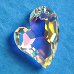 Swarovski 6261 Devoted 2 U Heart Pendant 17mm Crystal AB