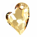 Swarovski 6261 Devoted 2 U Heart Pendant 17mm Crystal Golden Shadow