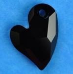 Swarovski 6261 Devoted 2 U Heart Pendant 17mm Jet
