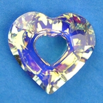Swarovski 6262 Miss U Heart  Pendant 17mm Crystal AB