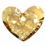 Swarovski 6264 Truly In Love Heart Pendant 18mm Crystal Golden Shadow