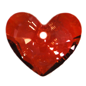 Swarovski 6264 Truly In Love Heart Pendant 18mm Crystal Red Magma