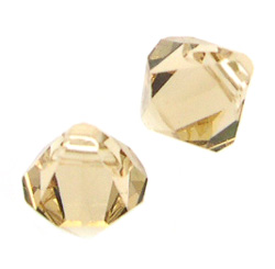 Swarovski Crystal 6301 6328, 6mm, Bi-cone Top Drilled Pendant