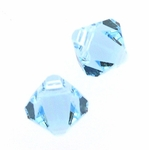 Swarovski 6301 Bicone Pendant Top-Drilled 6mm Bicone - Aquamarine (24) - disc