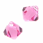 Swarovski 6301 Bicone Pendant Top-Drilled 6mm Bicone - Rose (24)