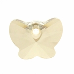 Swarovski 6754 Butterfly Pendant  18mm - Crystal Golden Shadow