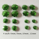 Swarovski Margarita 3700 Crystal Fern color Christmas Earring Pak for 2 pairs of 4 tier Christmas Tree Earrings