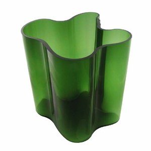 """1937 Green Aalto Vase - 8"""" - Click to enlarge"""