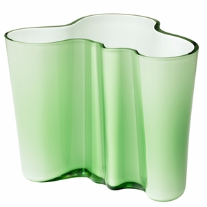 """Aalto Apple Green/White Dual Colored Vase – 6-1/4"""" - Click to enlarge"""