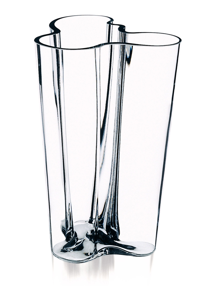 iittala aalto finlandia clear vase 10 iittala alvar. Black Bedroom Furniture Sets. Home Design Ideas