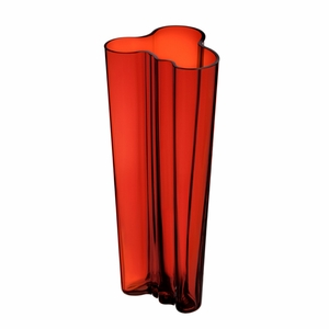 """Aalto Kapea Flaming Red Vase - 10"""" - Click to enlarge"""