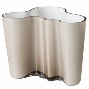 """Aalto Smoky Grey/White Dual Colored Vase – 6-1/4"""" - Click to enlarge"""