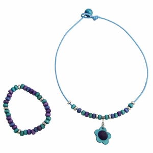 aarikka Karkkila Necklace and Bracelet Set - Blue - Click to enlarge