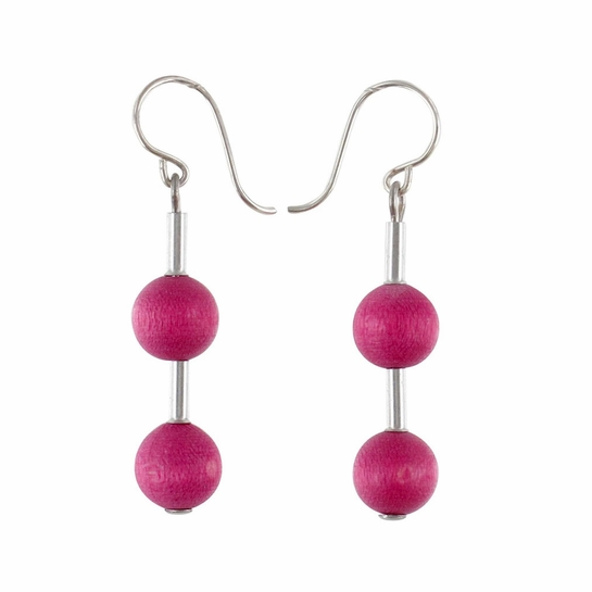 Aarikka Pippuri Raspberry Earrings
