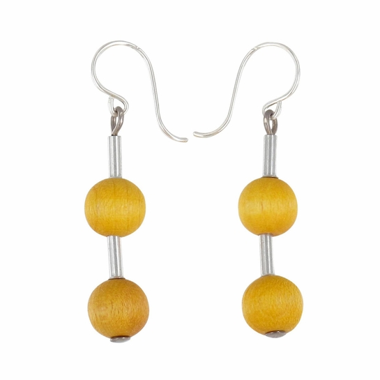 Aarikka Pippuri Yellow Earrings