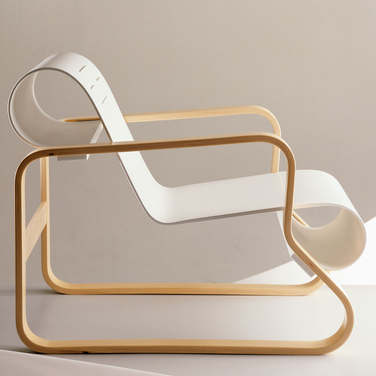 Artek Alvar Aalto 41 Paimio Scroll Chair Made In Finland