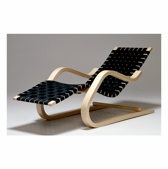 chaise lounge alvar aalto natural black chaise lounge
